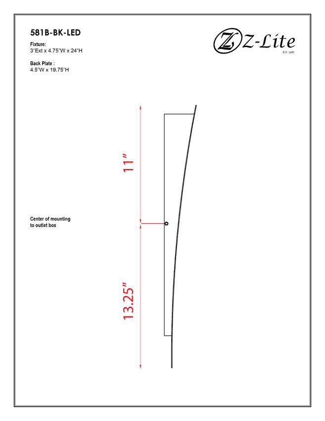 581B-BK-LED